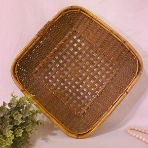 Bamboo and rattan decorative tray/basket